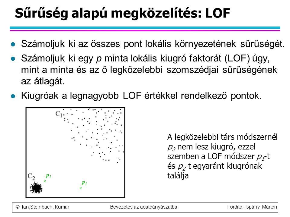 Sűrűség alapú megközelítés: LOF