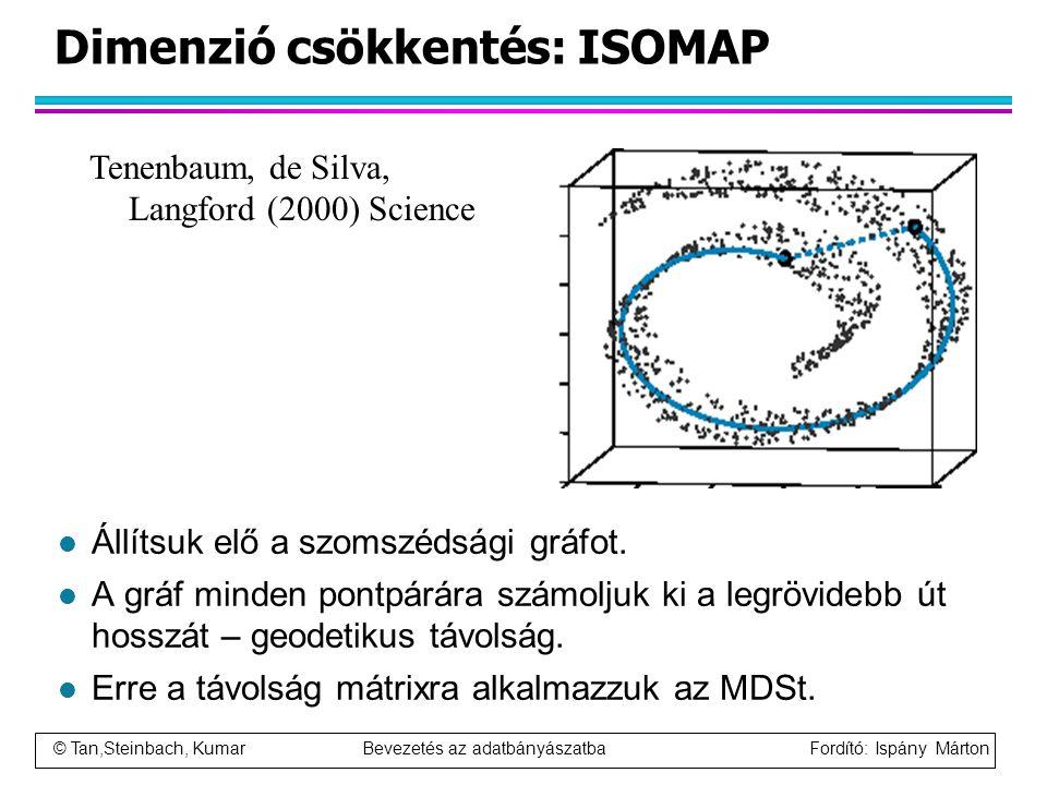 Dimenzió csökkentés: ISOMAP