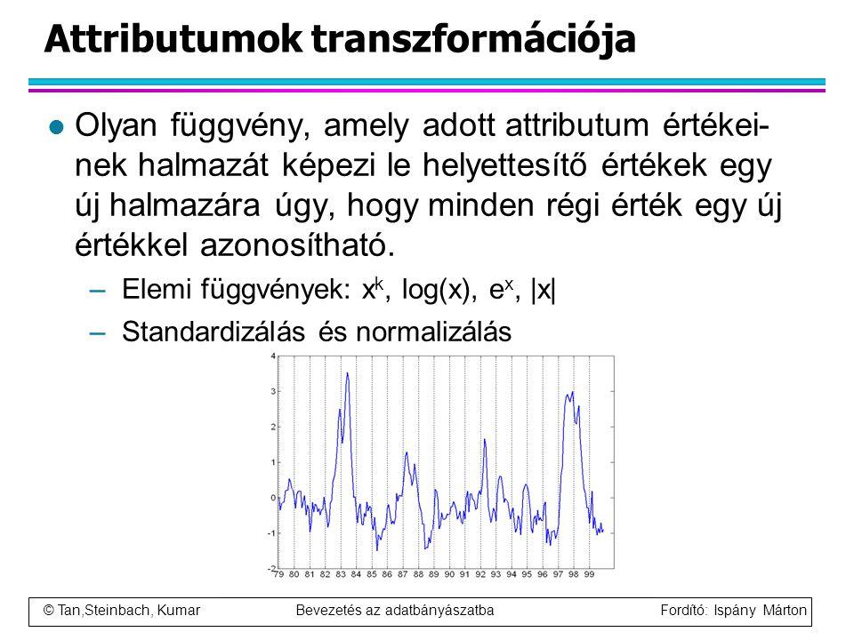 Attributumok transzformációja