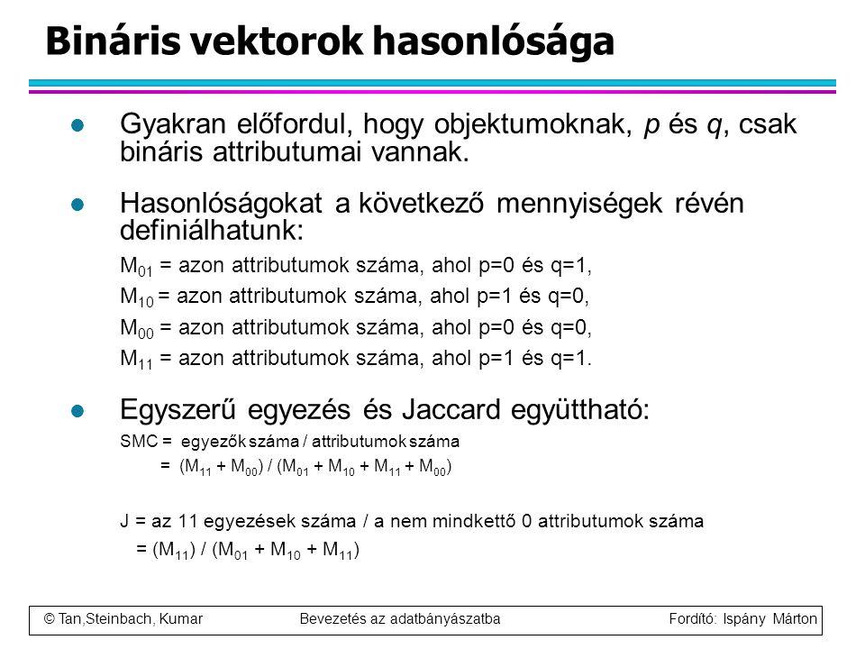 Bináris vektorok hasonlósága