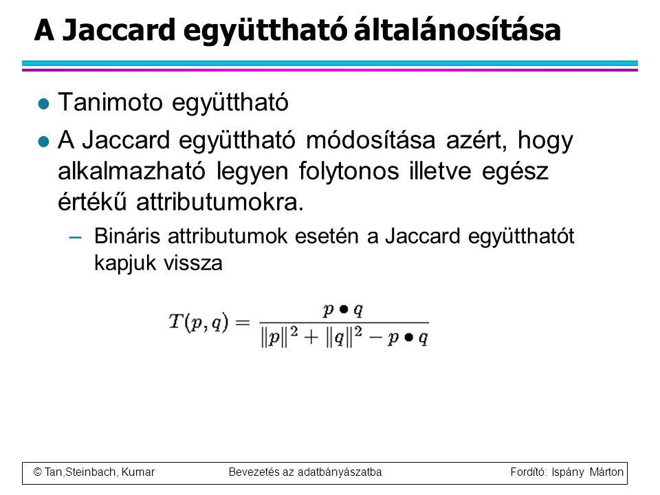 A Jaccard együttható általánosítása