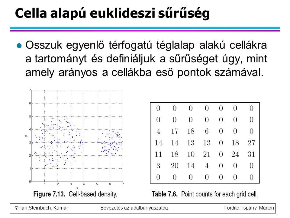 Cella alapú euklideszi sűrűség