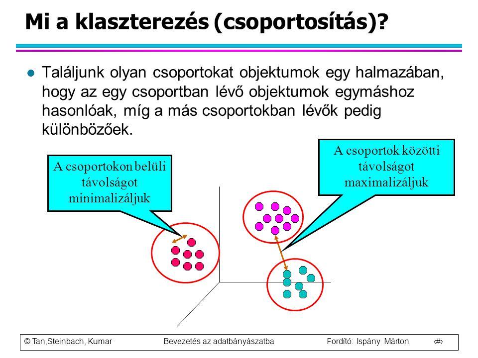 Mi a klaszterezés (csoportosítás)