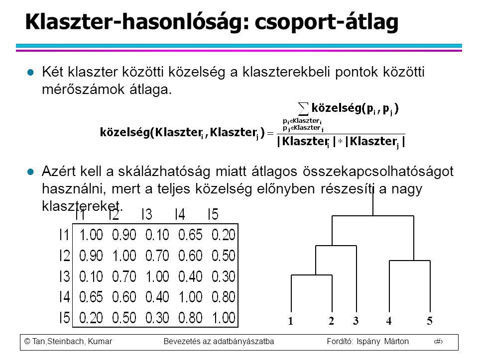 Klaszter-hasonlóság: csoport-átlag
