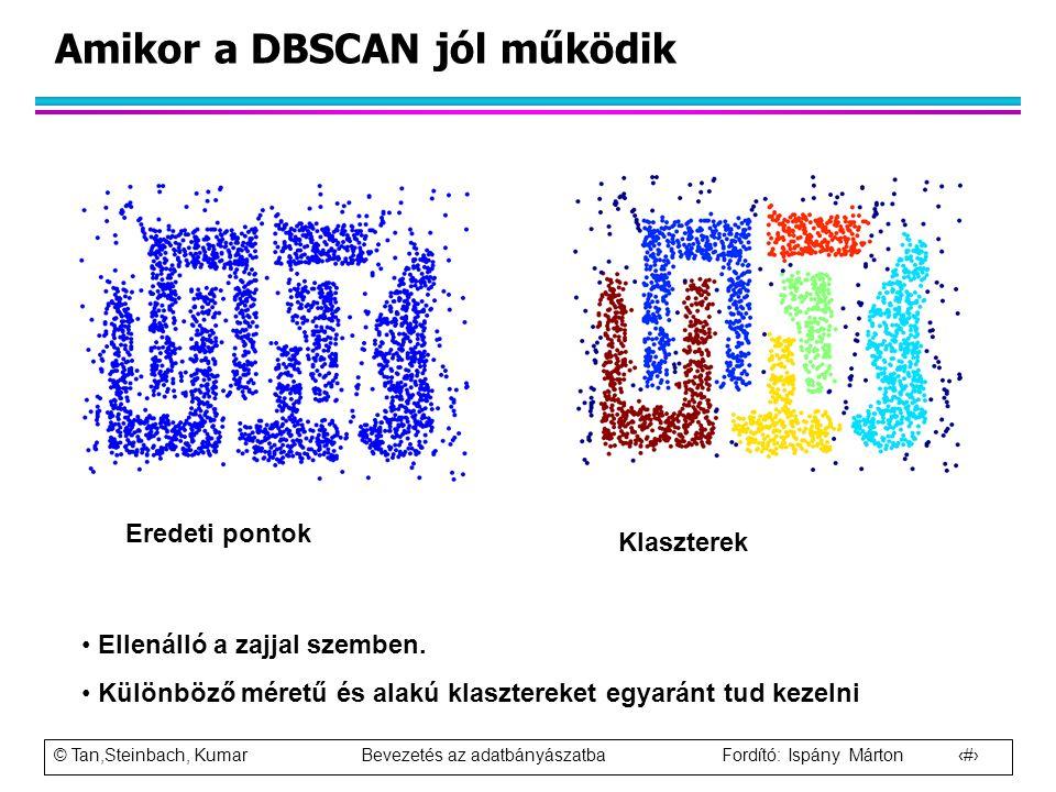 Amikor a DBSCAN jól működik