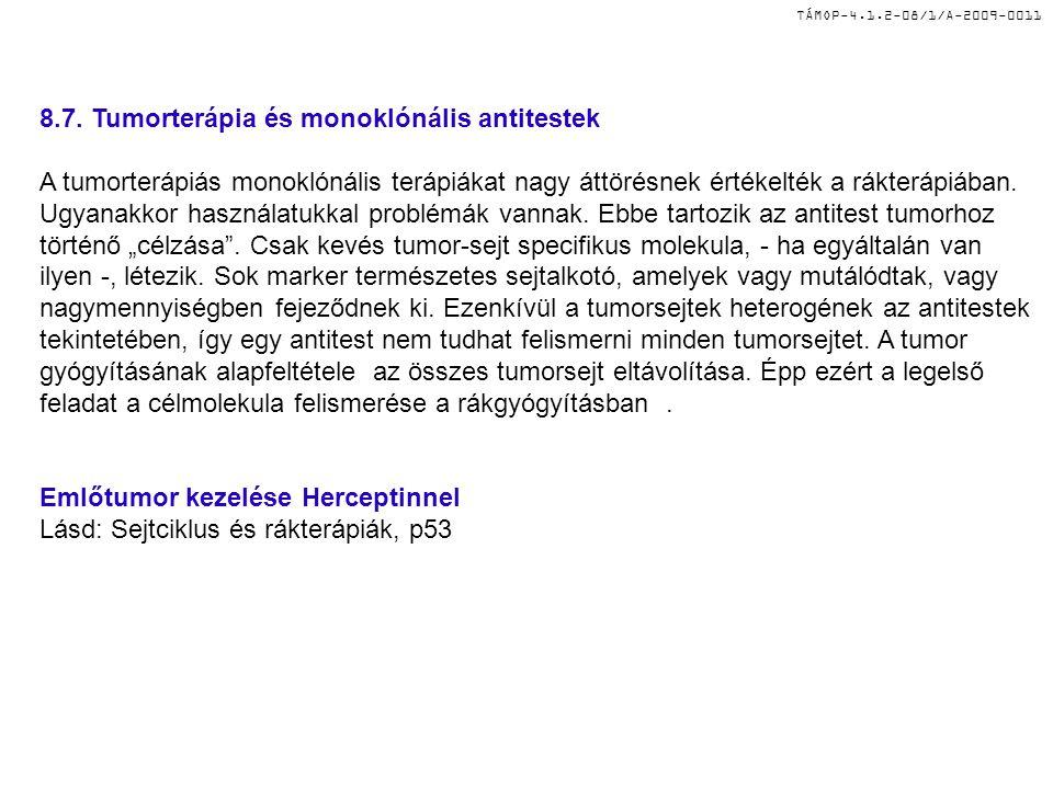8.7. Tumorterápia és monoklónális antitestek