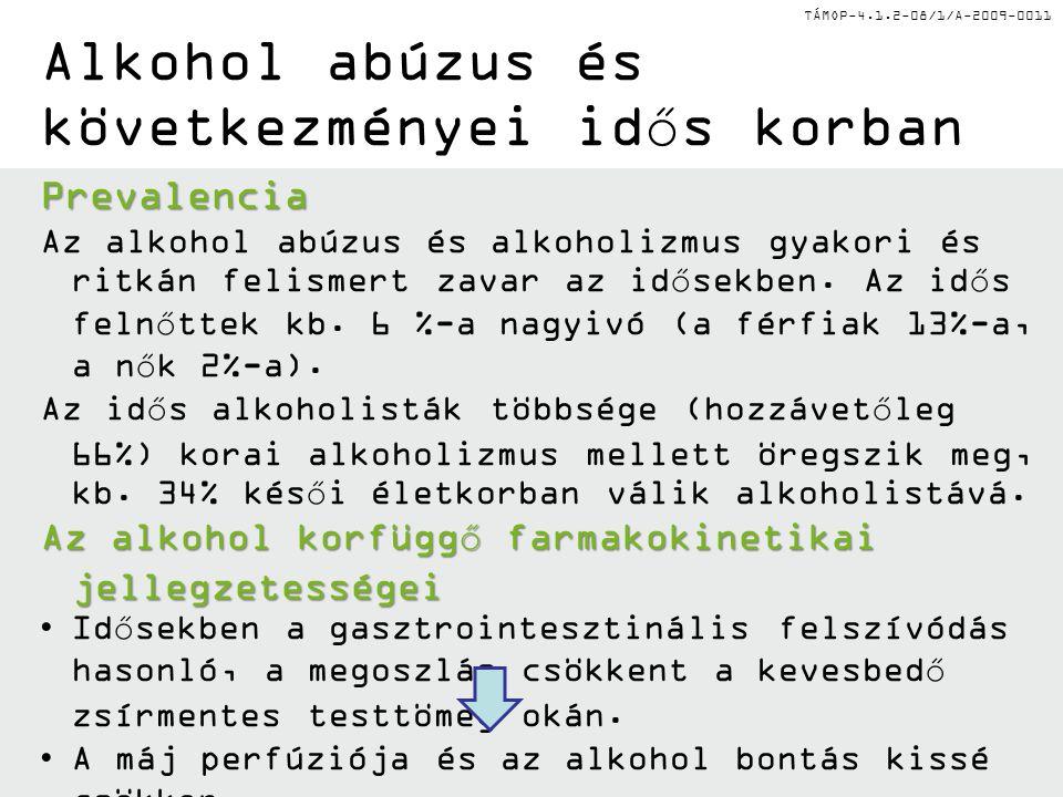 Alkohol abúzus és következményei idős korban