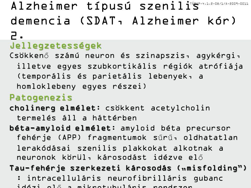 Alzheimer típusú szenilis demencia (SDAT, Alzheimer kór) 2.