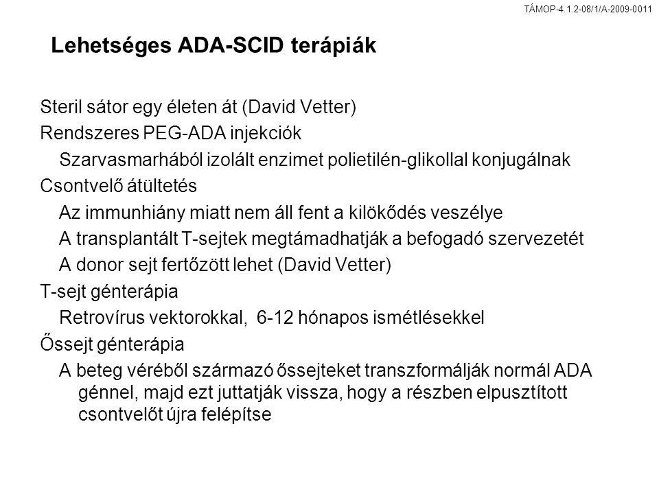 Lehetséges ADA-SCID terápiák