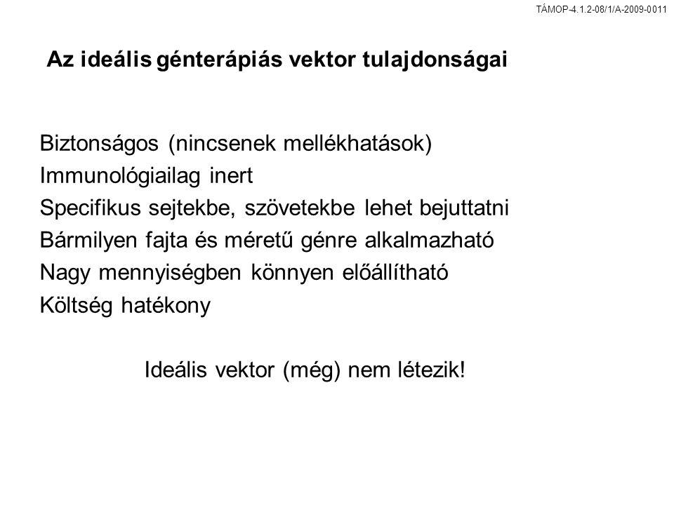Az ideális génterápiás vektor tulajdonságai