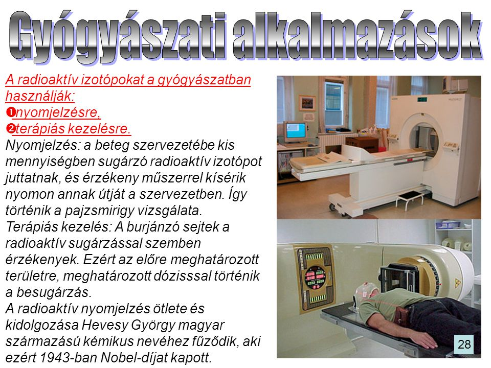 Gyógyászati alkalmazások