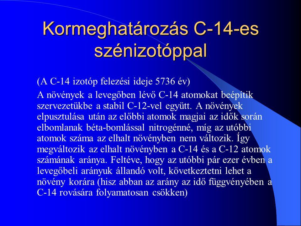 Kormeghatározás C-14-es szénizotóppal