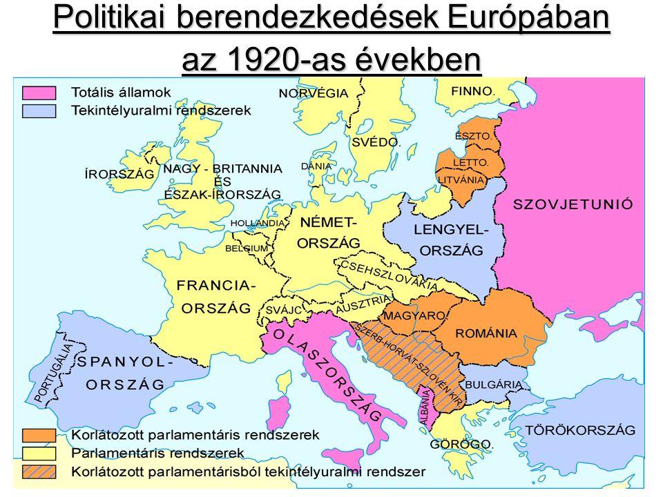 Politikai berendezkedések Európában az 1920-as években