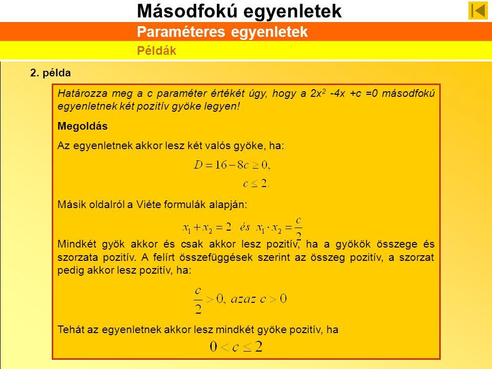 Paraméteres egyenletek