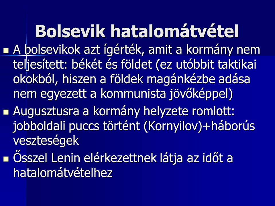 Bolsevik hatalomátvétel