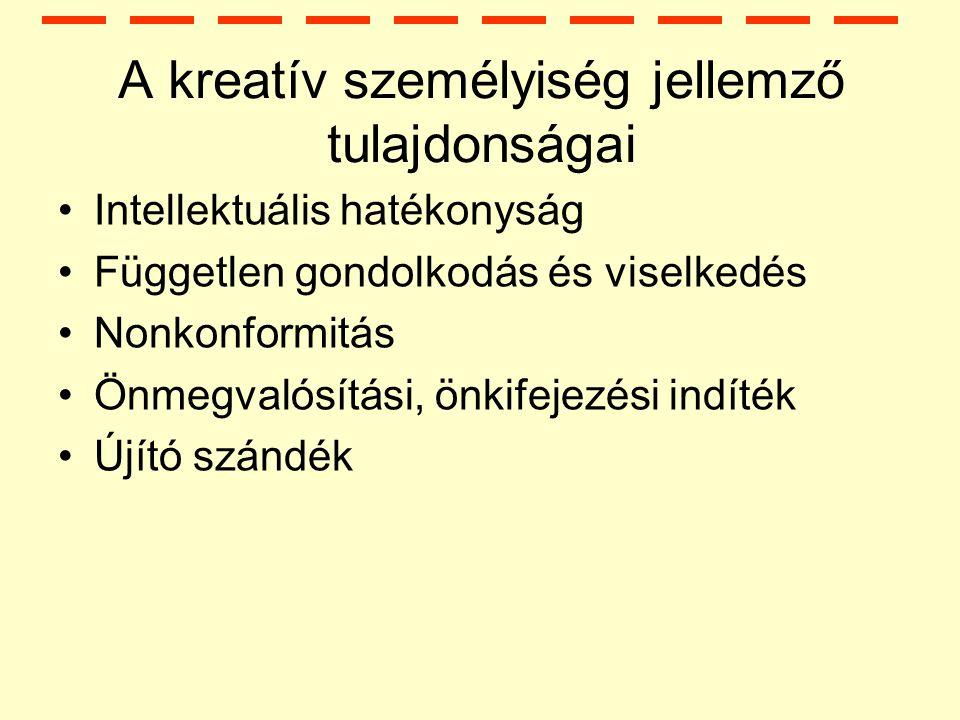 A kreatív személyiség jellemző tulajdonságai