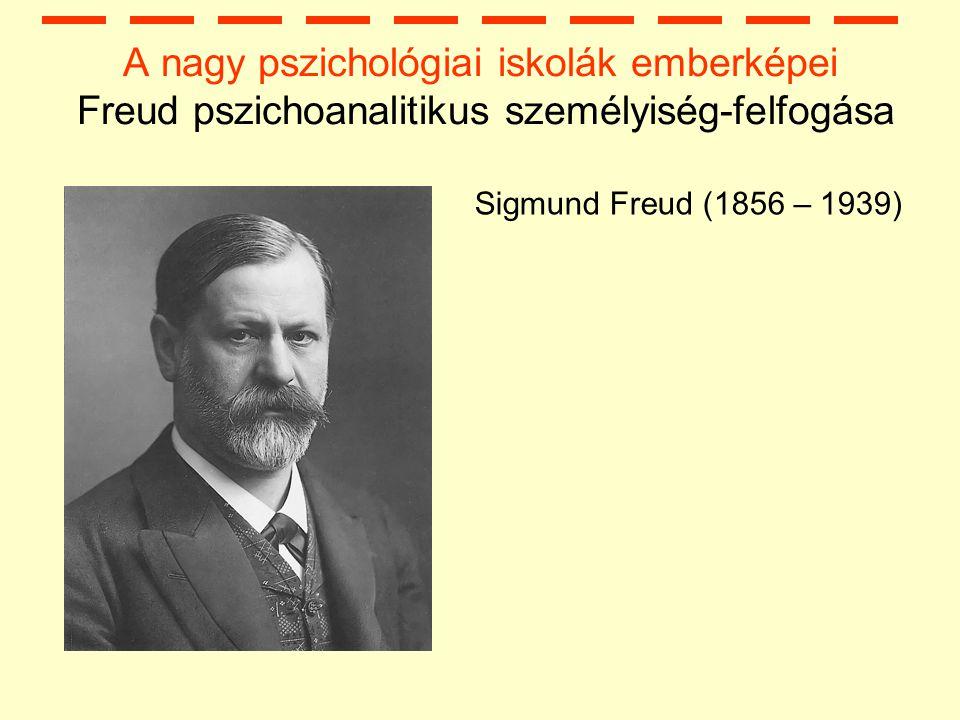 A nagy pszichológiai iskolák emberképei Freud pszichoanalitikus személyiség-felfogása