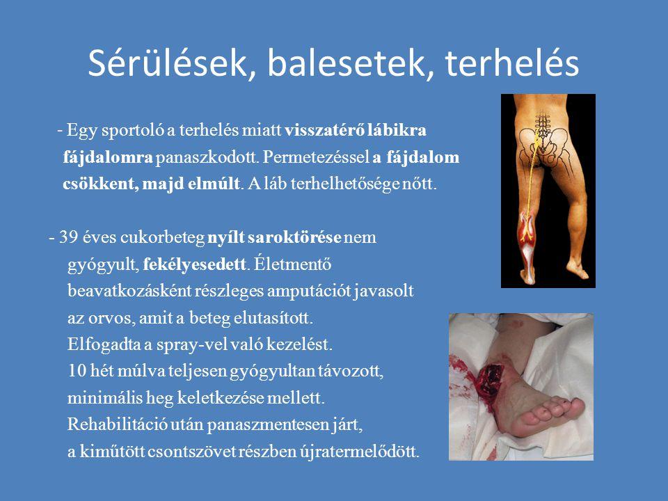 Sérülések, balesetek, terhelés