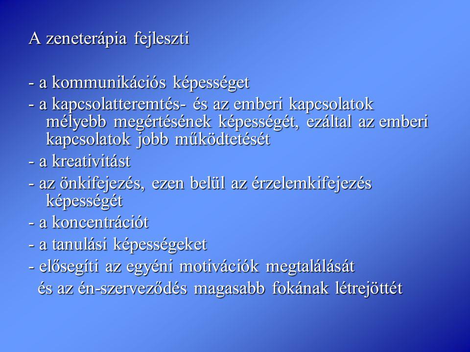 A zeneterápia fejleszti