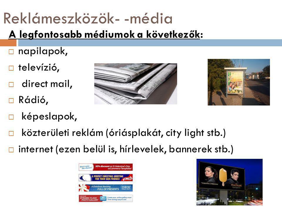 Reklámeszközök- -média