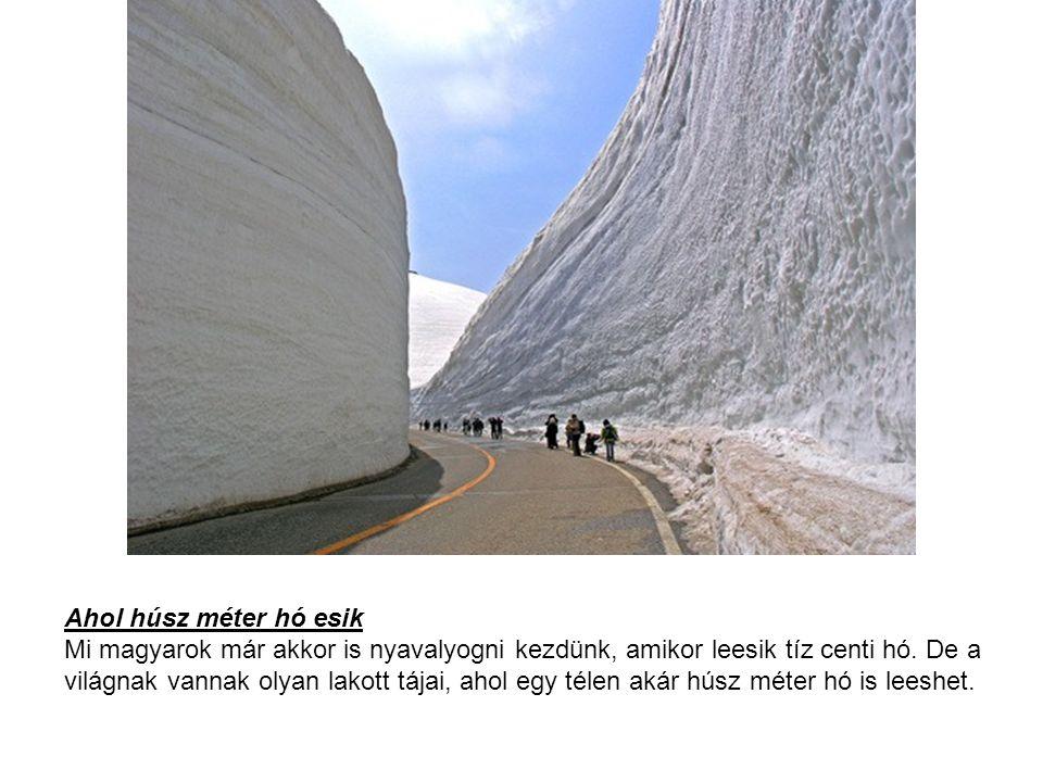 Ahol húsz méter hó esik