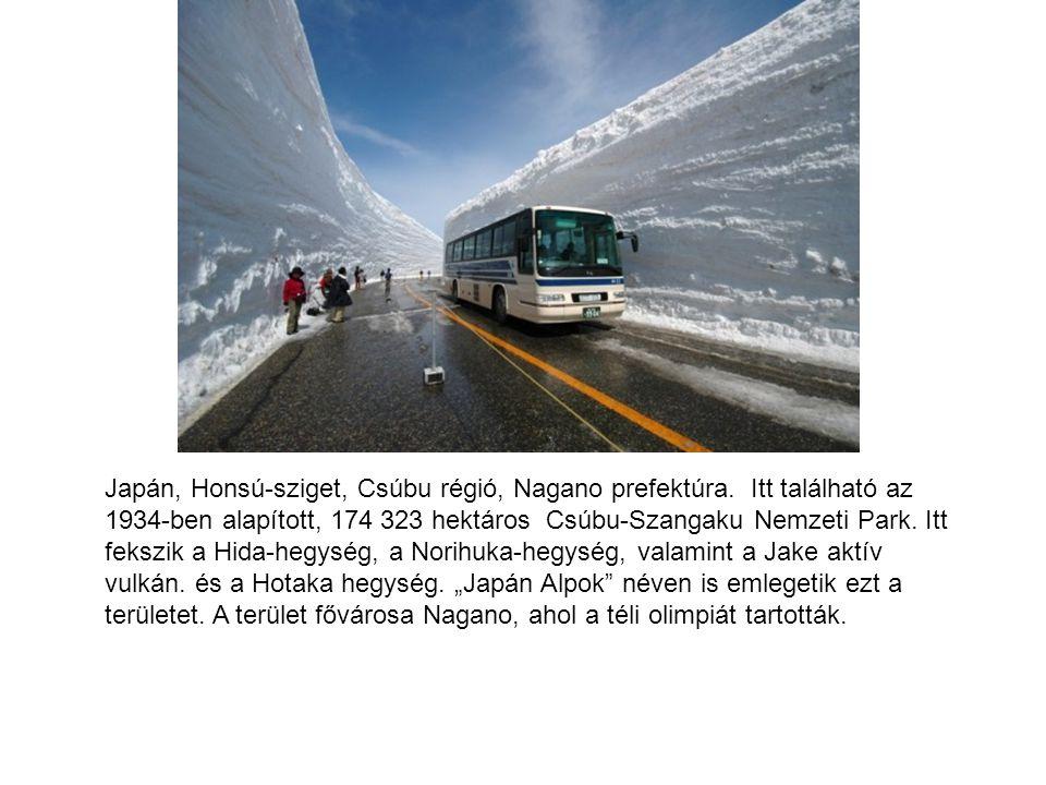 Japán, Honsú-sziget, Csúbu régió, Nagano prefektúra