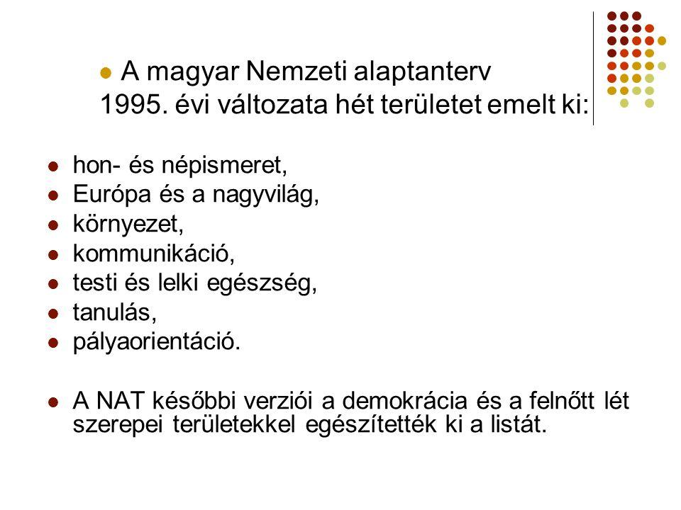 A magyar Nemzeti alaptanterv