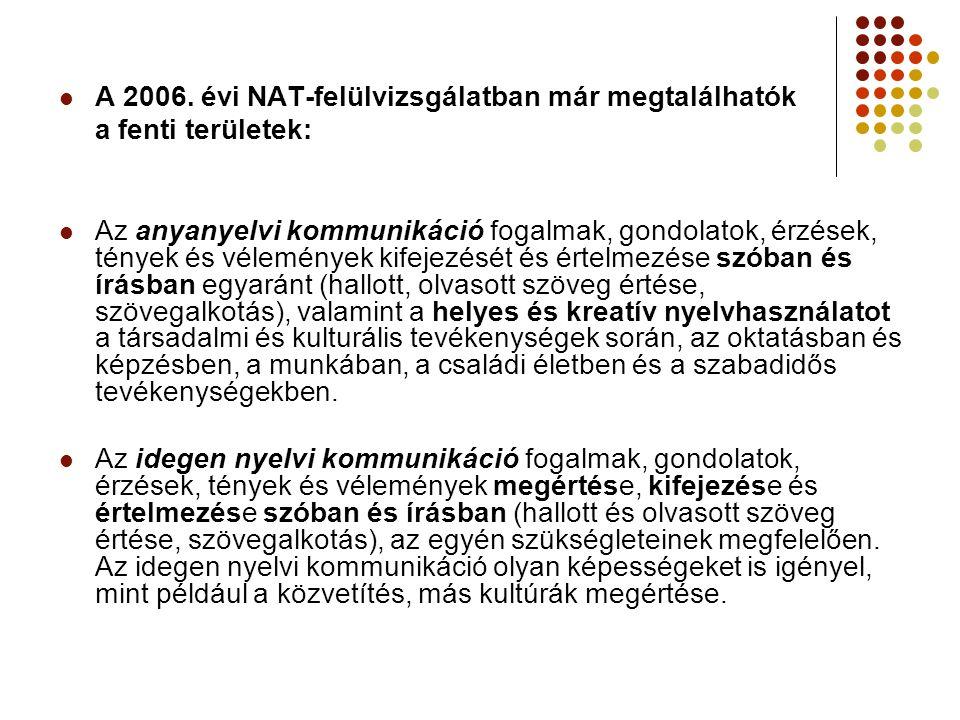 A 2006. évi NAT-felülvizsgálatban már megtalálhatók