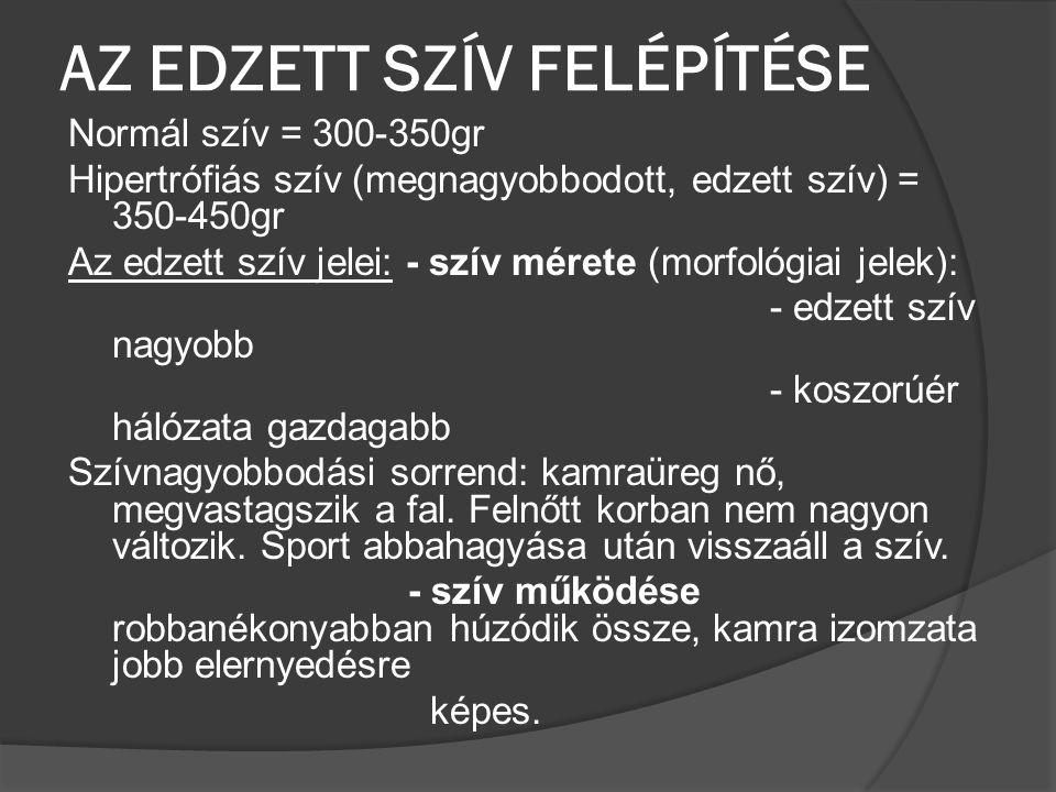 AZ EDZETT SZÍV FELÉPÍTÉSE
