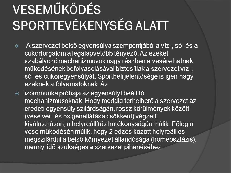 VESEMŰKÖDÉS SPORTTEVÉKENYSÉG ALATT