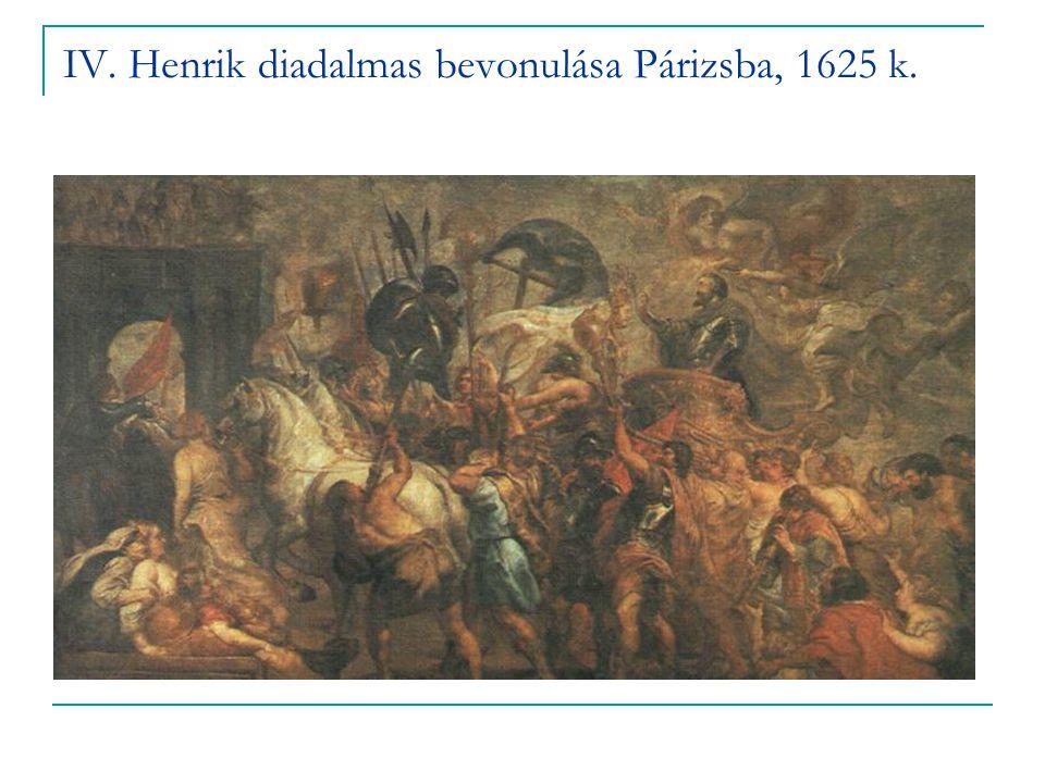 IV. Henrik diadalmas bevonulása Párizsba, 1625 k.