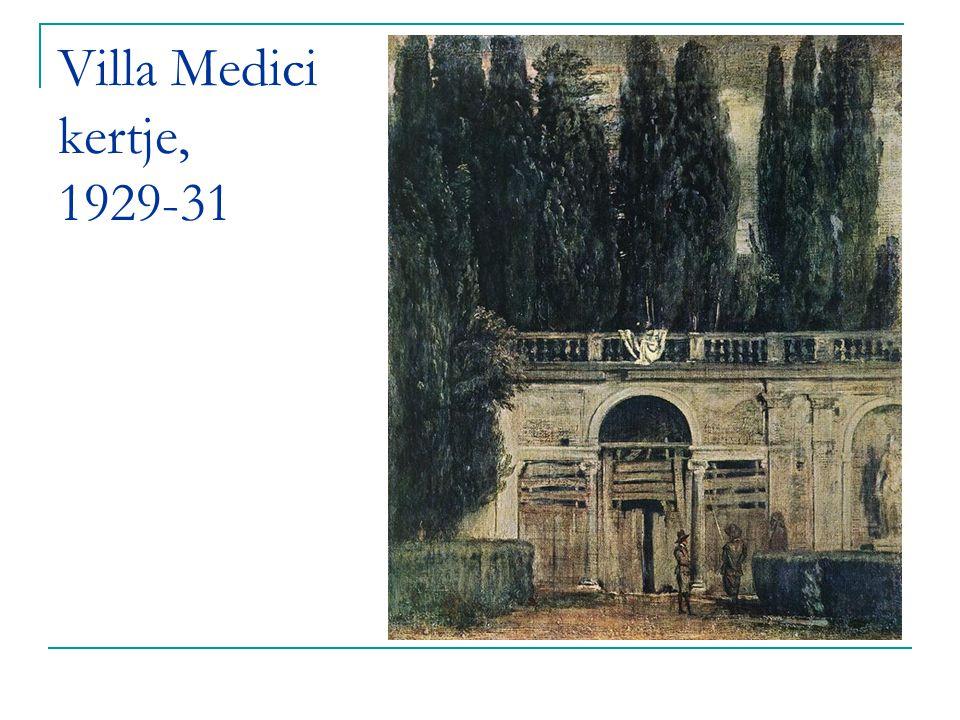 Villa Medici kertje, 1929-31