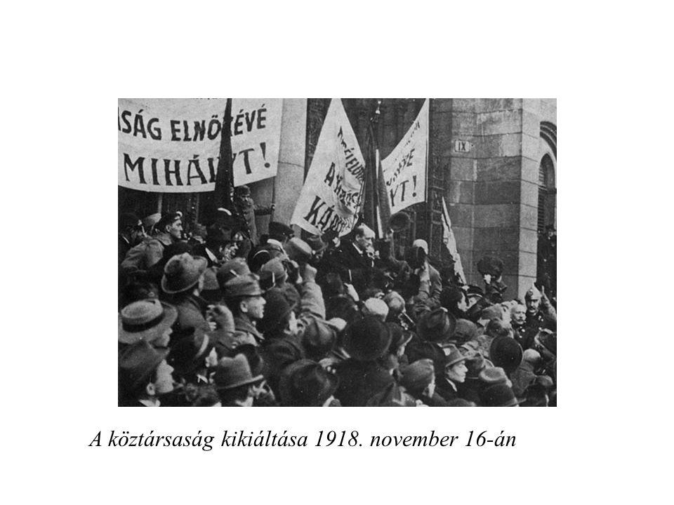 A köztársaság kikiáltása 1918. november 16-án