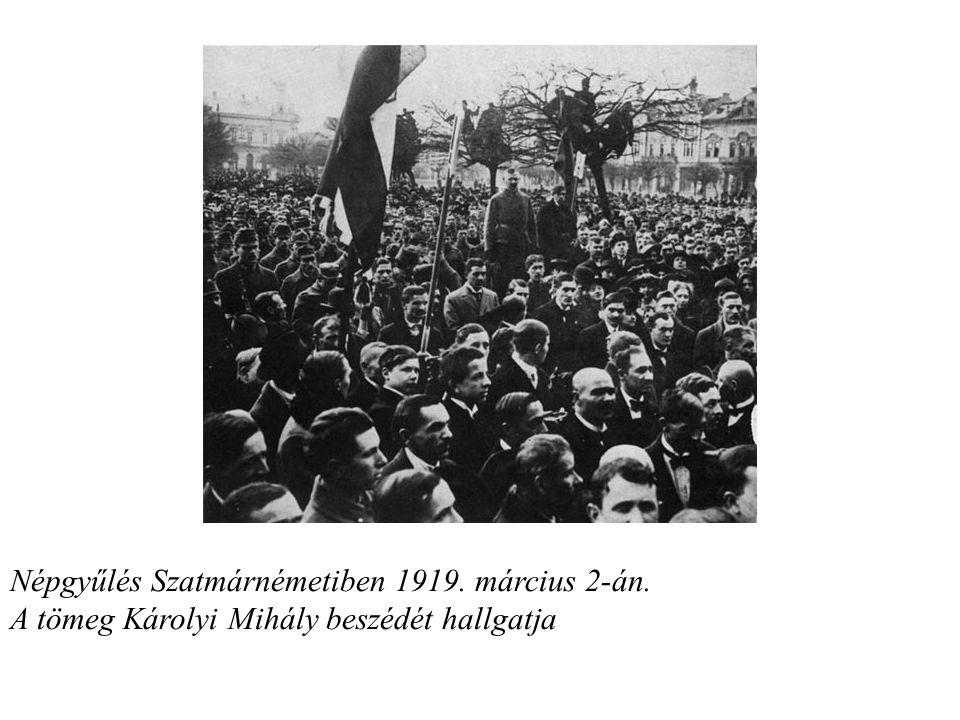 Népgyűlés Szatmárnémetiben 1919. március 2-án