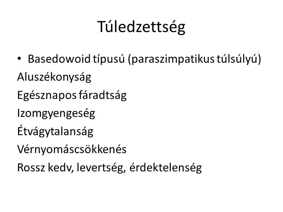 Túledzettség Basedowoid típusú (paraszimpatikus túlsúlyú)