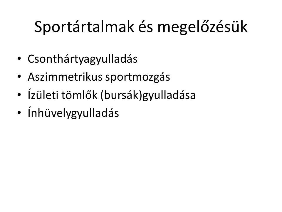 Sportártalmak és megelőzésük