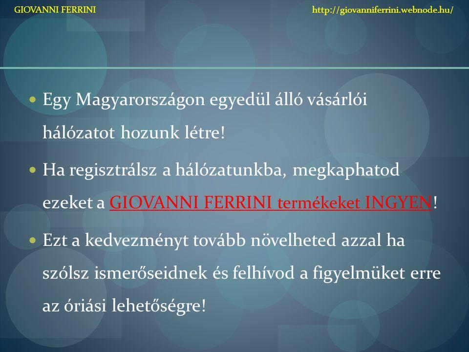 Egy Magyarországon egyedül álló vásárlói hálózatot hozunk létre!