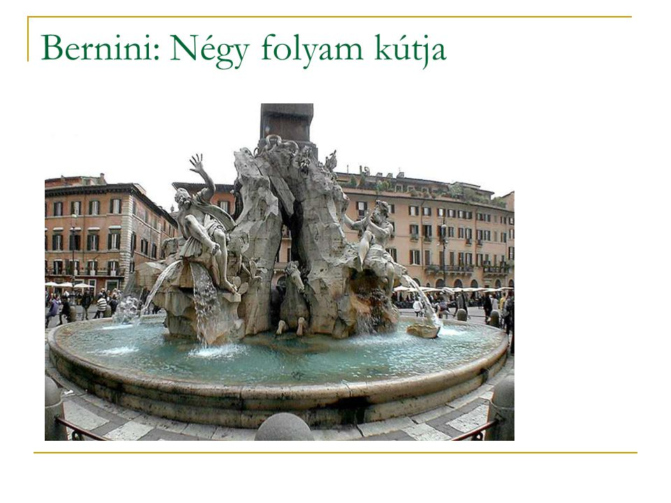 Bernini: Négy folyam kútja