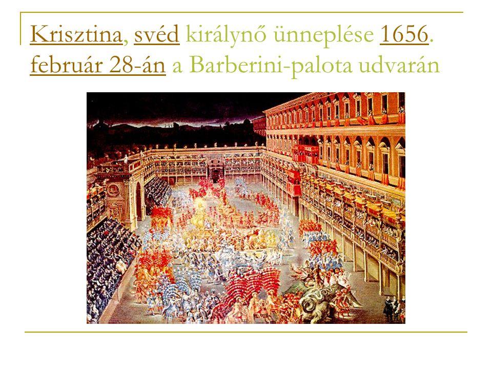 Krisztina, svéd királynő ünneplése 1656