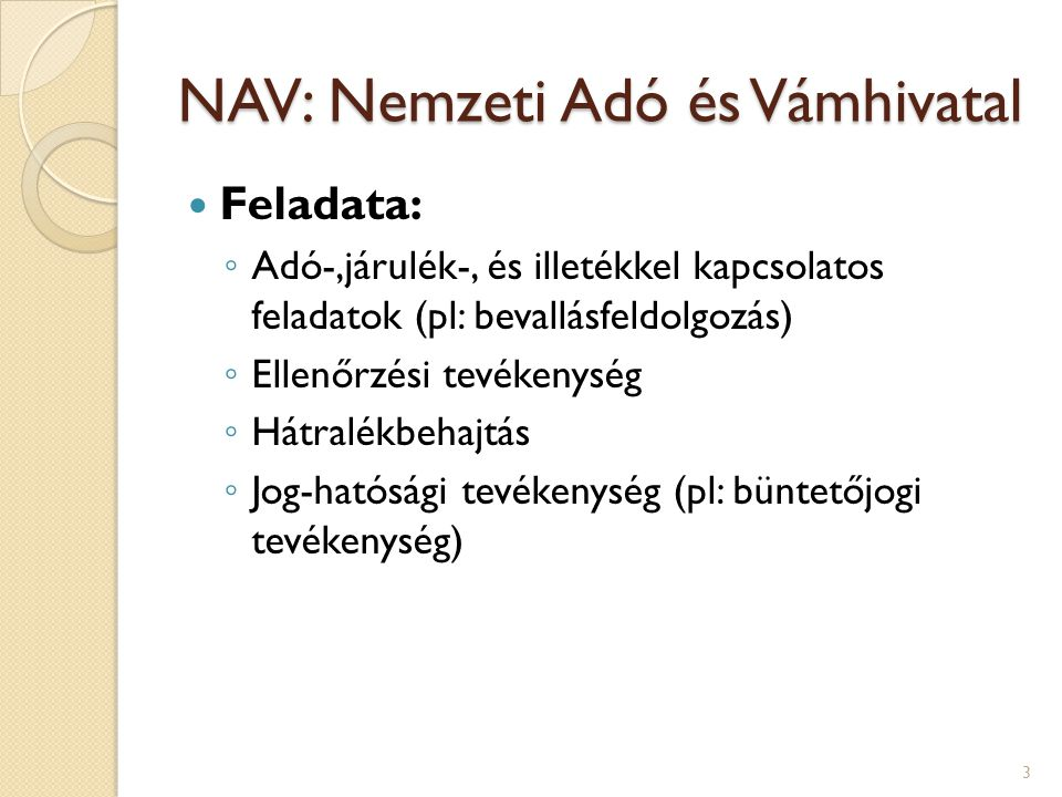 NAV: Nemzeti Adó és Vámhivatal
