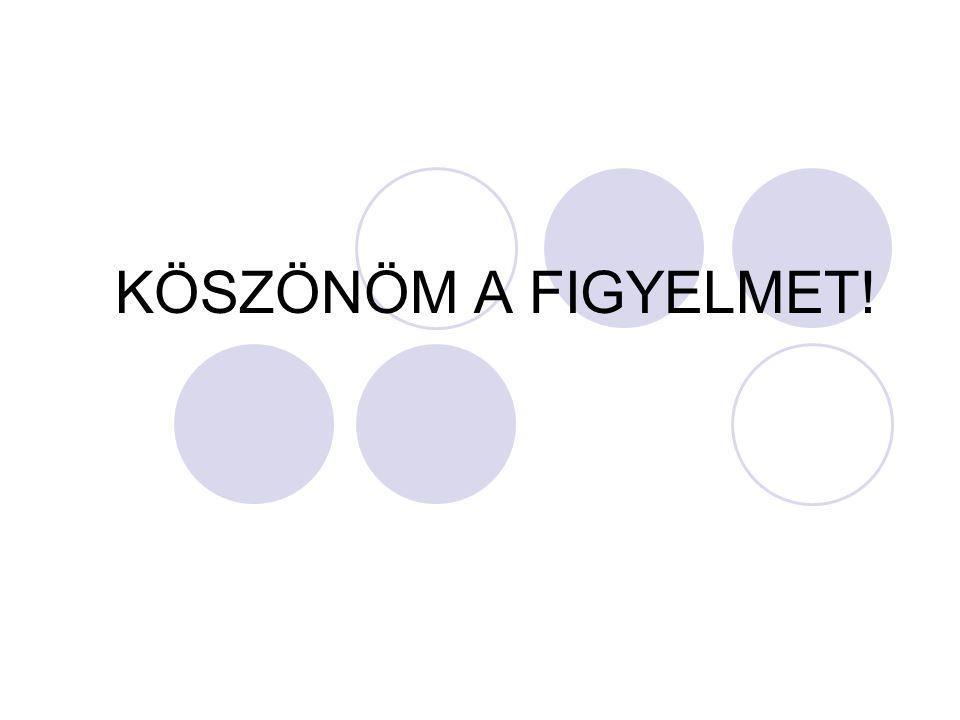 KÖSZÖNÖM A FIGYELMET!