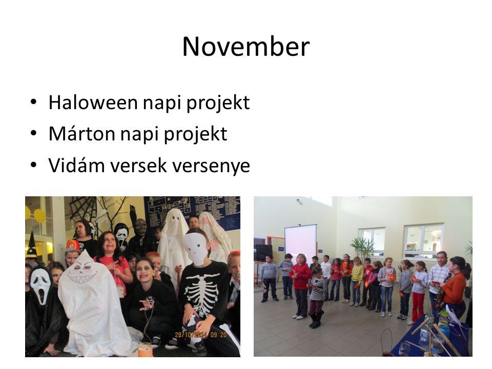 November Haloween napi projekt Márton napi projekt
