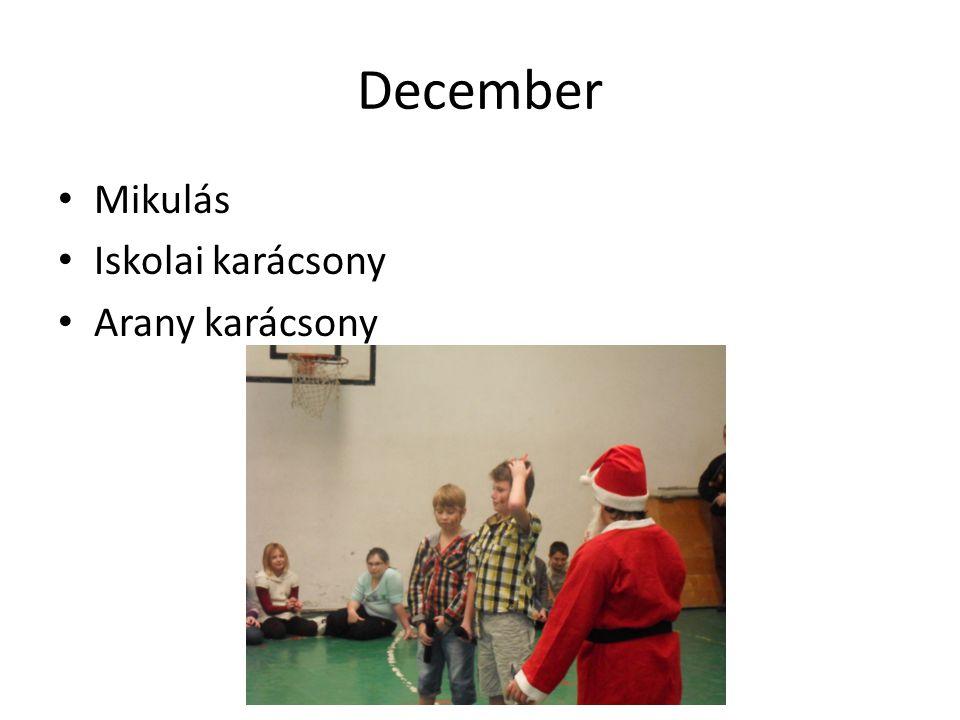 December Mikulás Iskolai karácsony Arany karácsony
