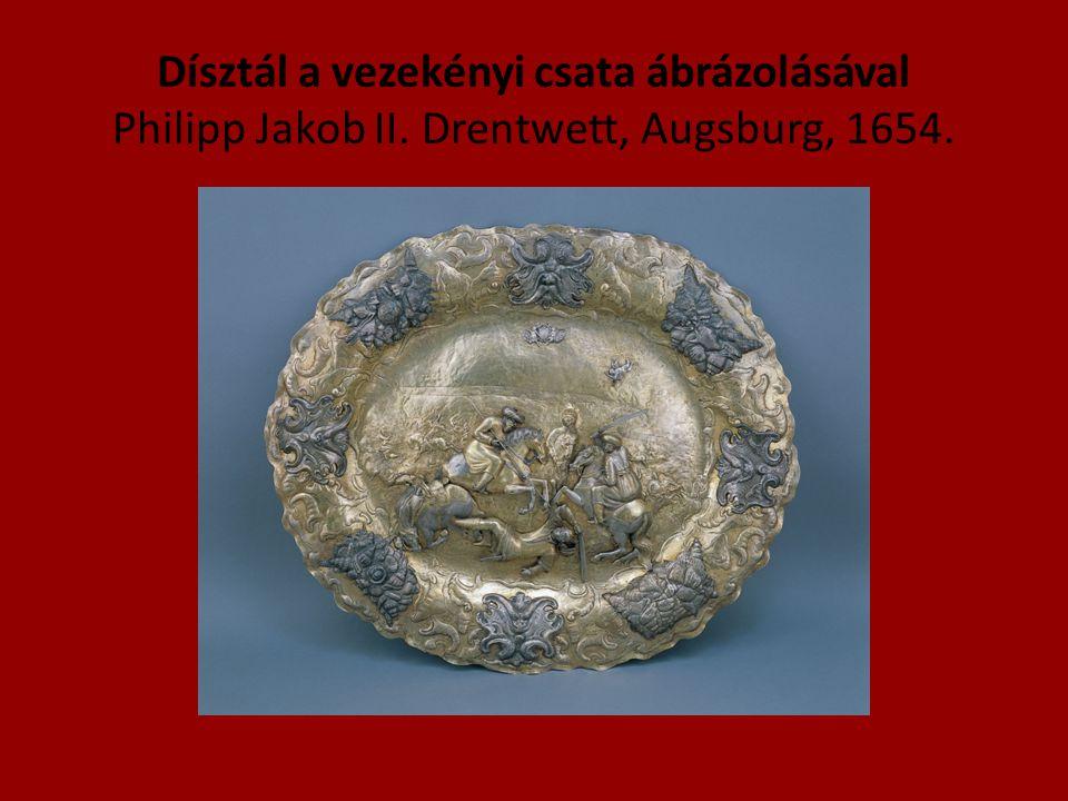 Dísztál a vezekényi csata ábrázolásával Philipp Jakob II