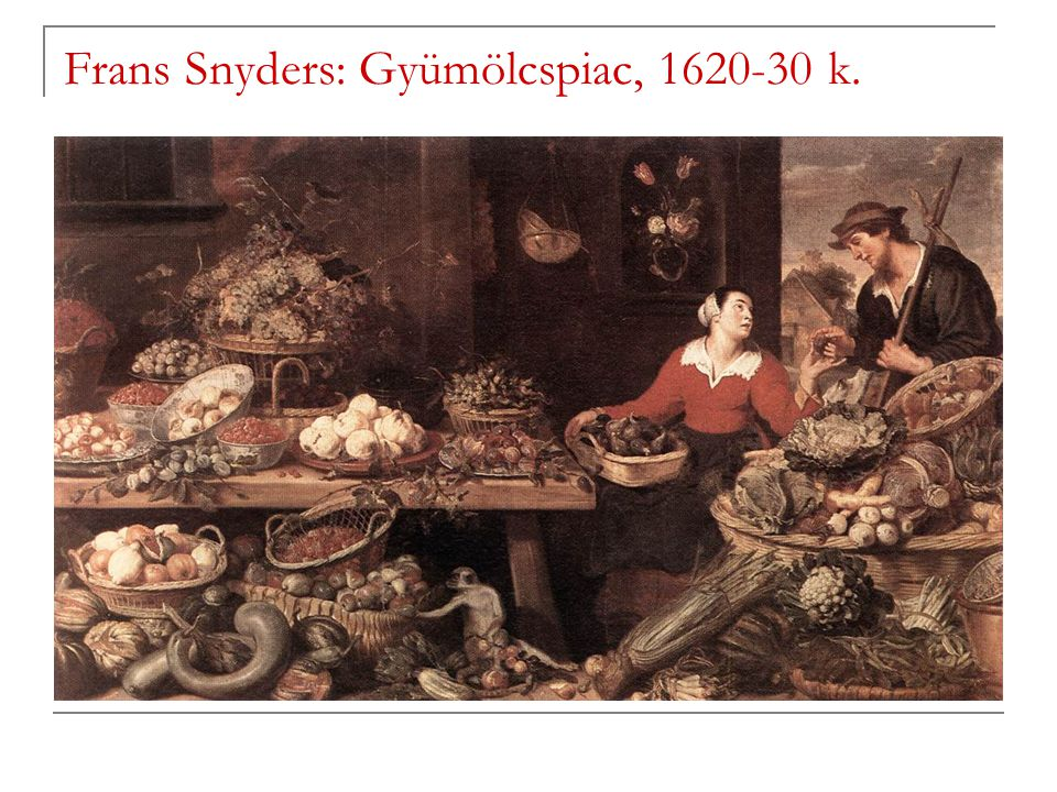 Frans Snyders: Gyümölcspiac, 1620-30 k.