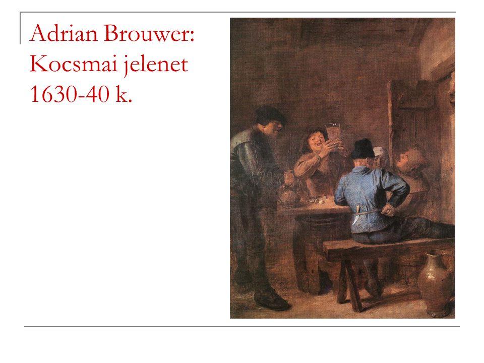 Adrian Brouwer: Kocsmai jelenet 1630-40 k.
