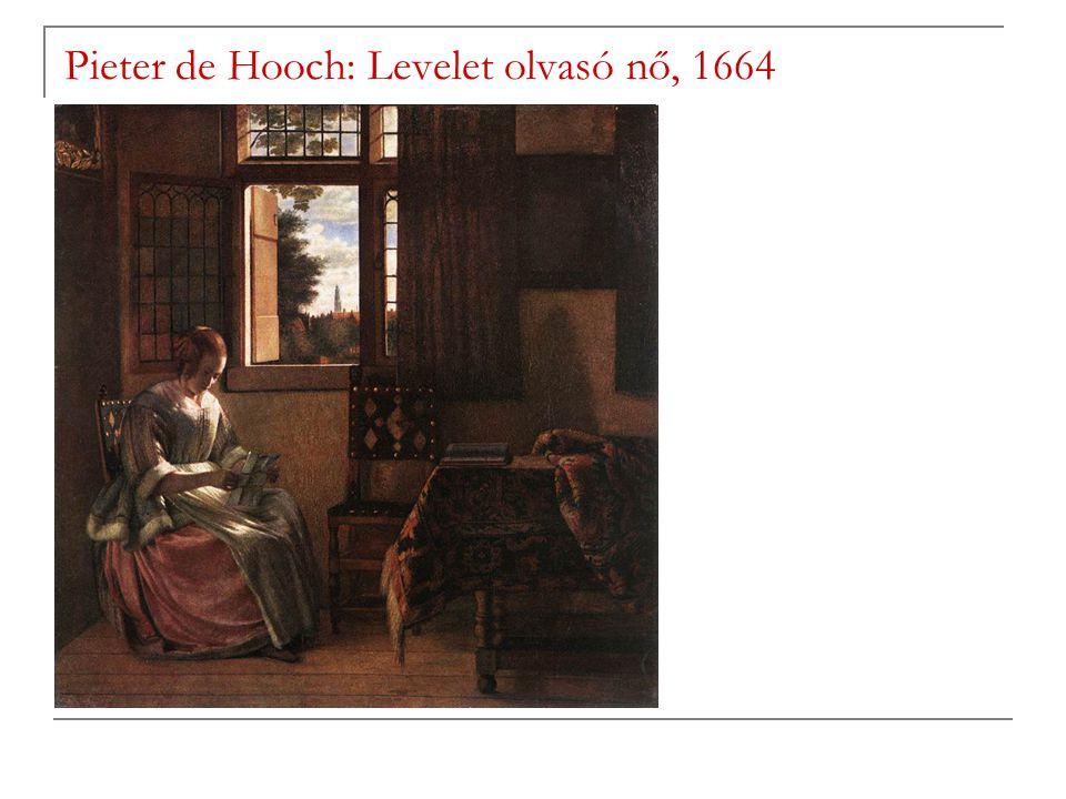 Pieter de Hooch: Levelet olvasó nő, 1664