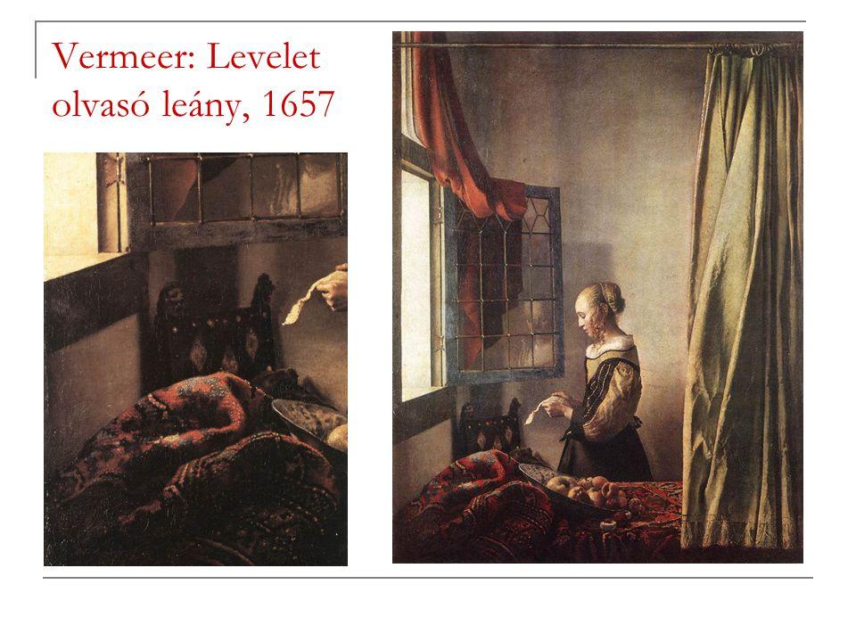 Vermeer: Levelet olvasó leány, 1657