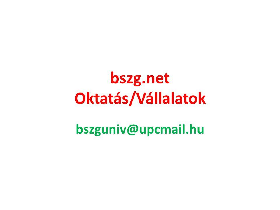 bszg.net Oktatás/Vállalatok