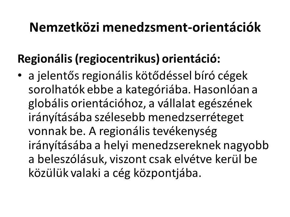 Nemzetközi menedzsment-orientációk